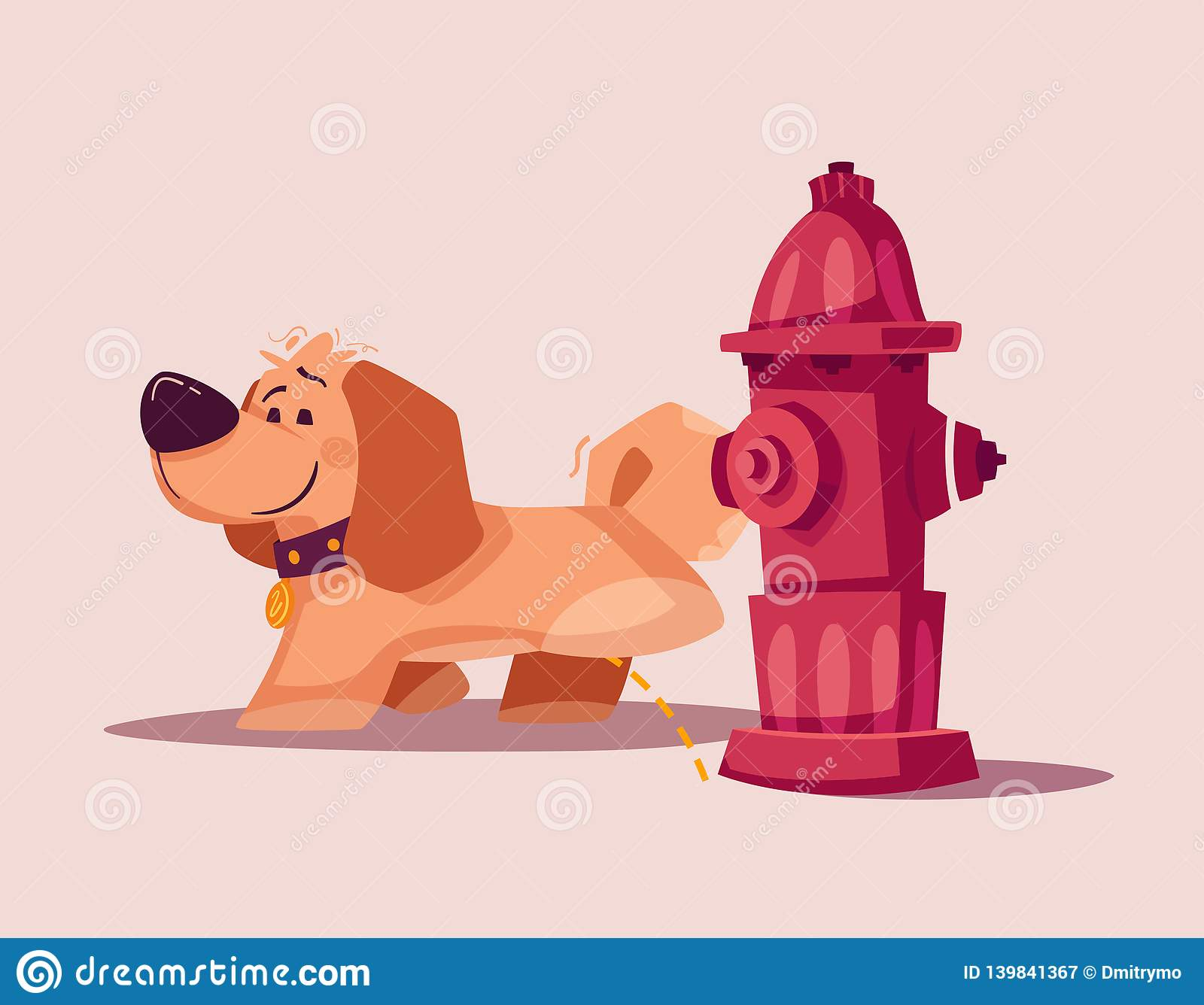 Dog Character Best Friend Cartoon Vector Illustration Stock
