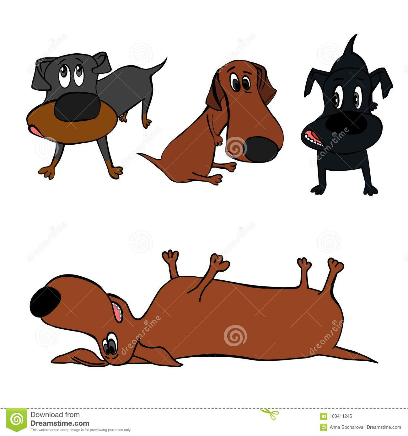 Dog Character Image Stock Vector Illustration Of Brown 103411245