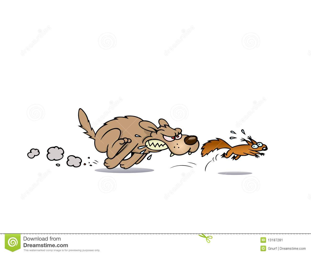 Dog Chasing Cat Clip Art Dog Chasing A Squirrel...