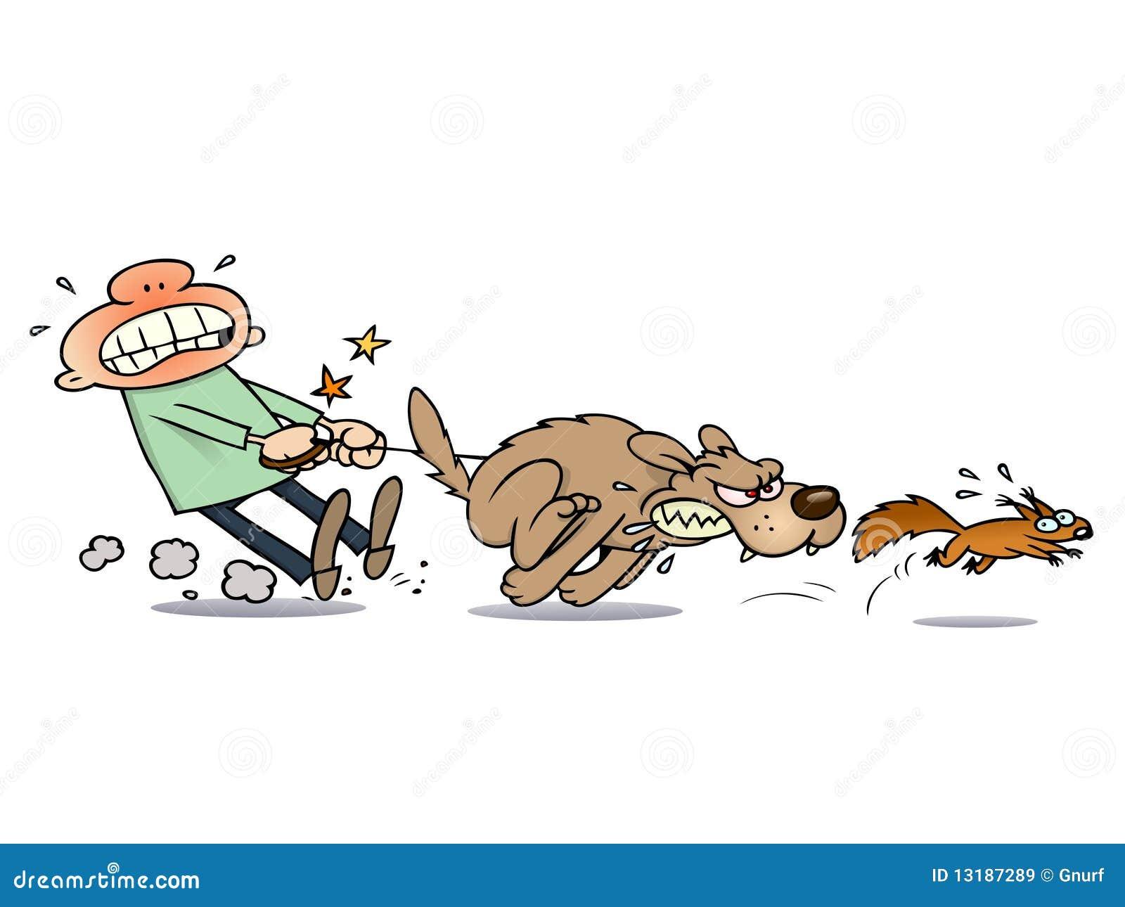 Dog Cahsing Cat Gane