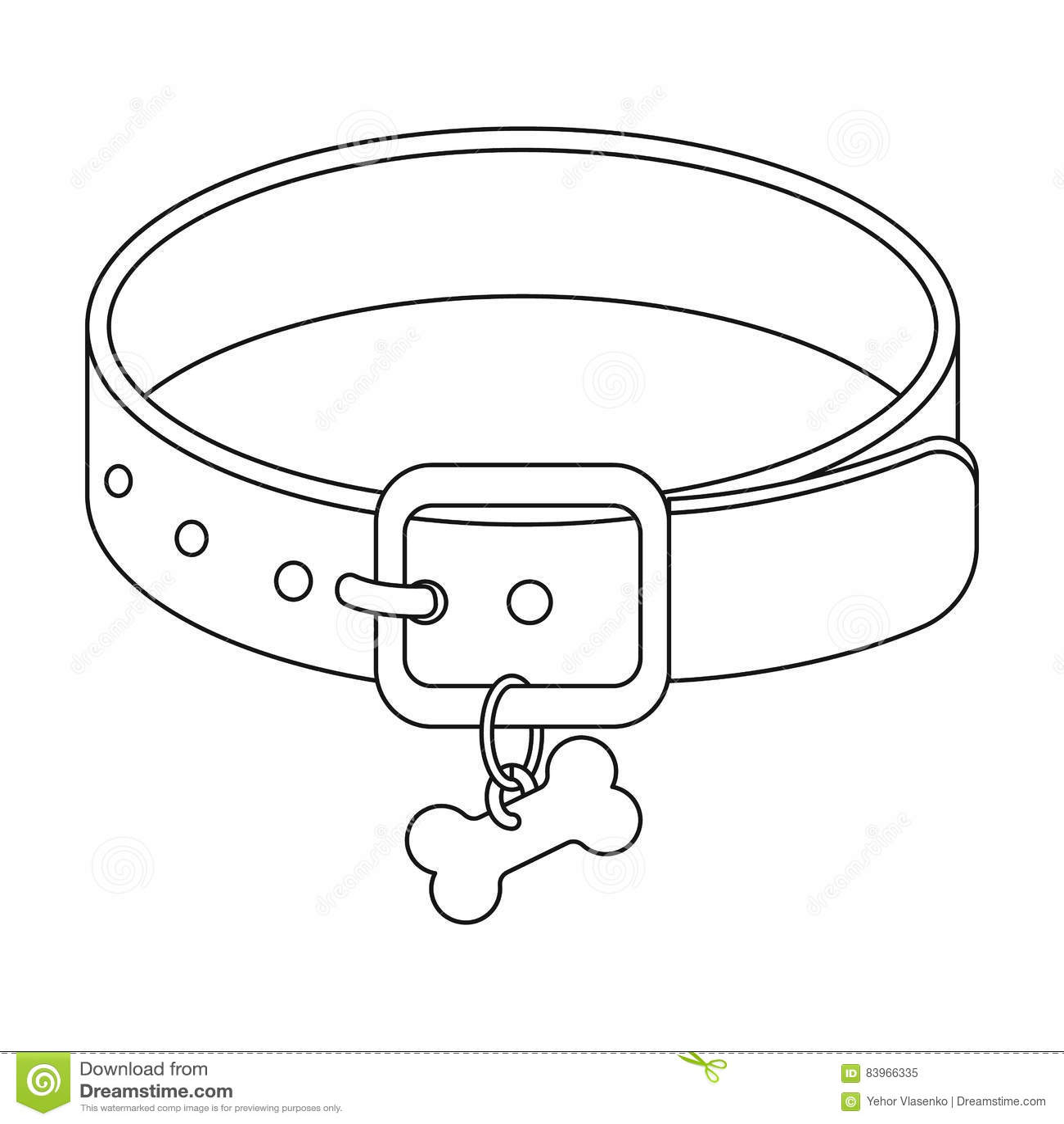 Black Dog Collar Clipart