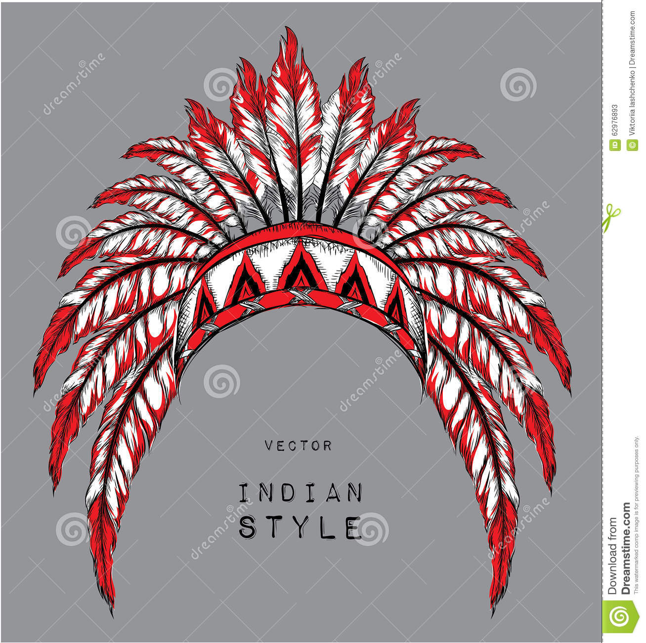 Dog In The Colored Indian Roach Indian Feather Headdress Of Eagle
