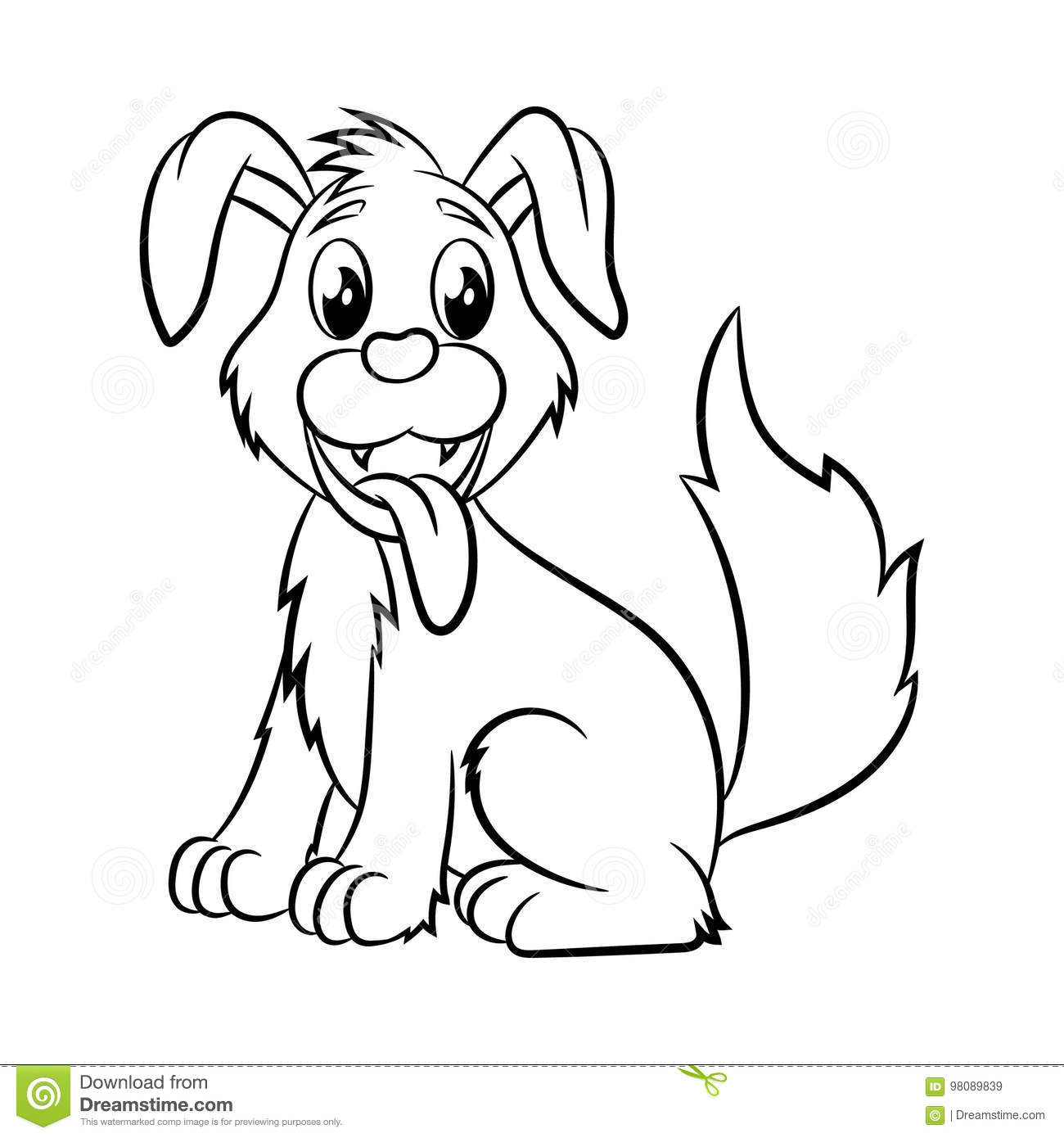 Dog coloring book. stock vector. Illustration of december ...