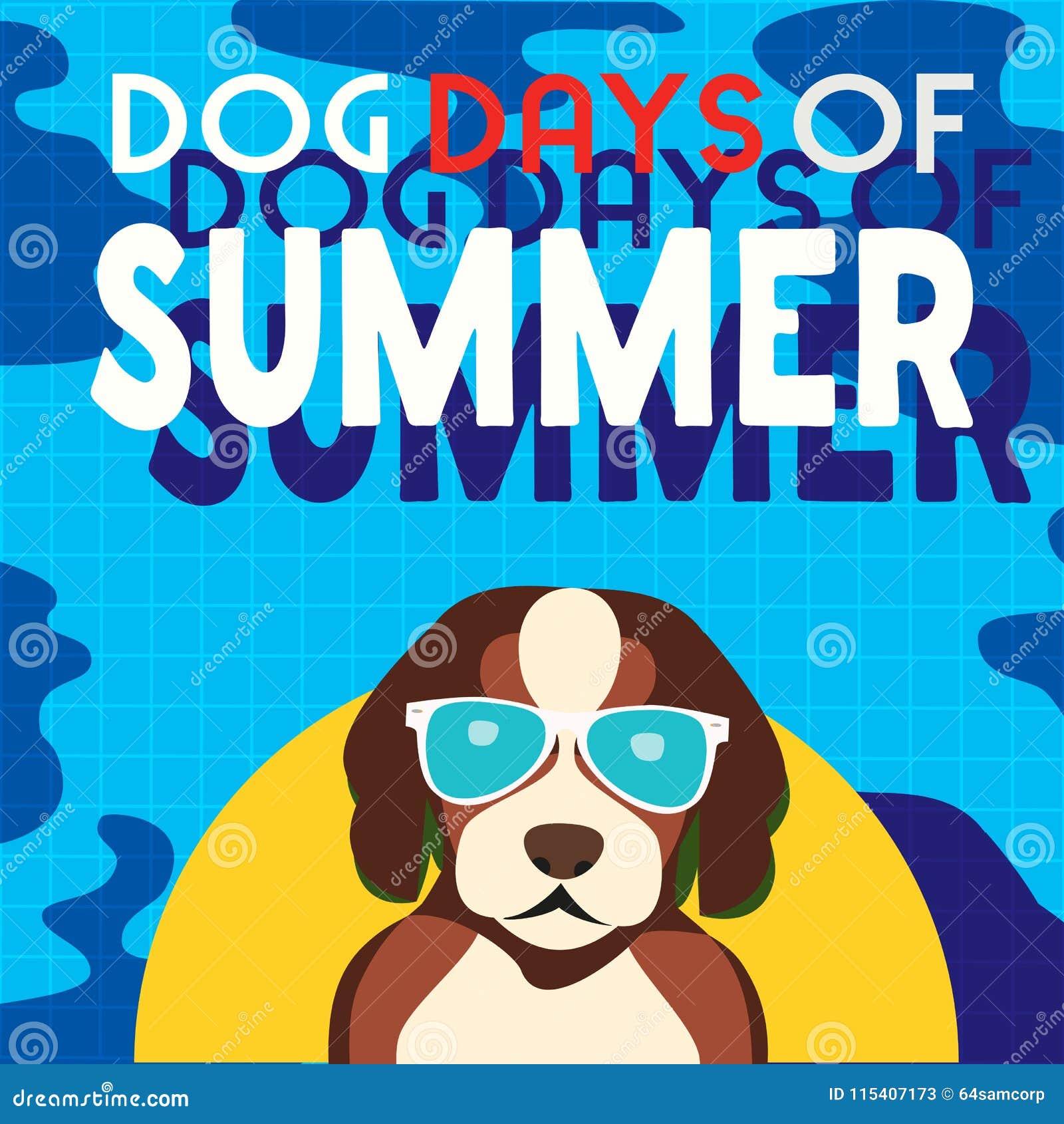Dog days of summer stock illustration. Illustration of ...