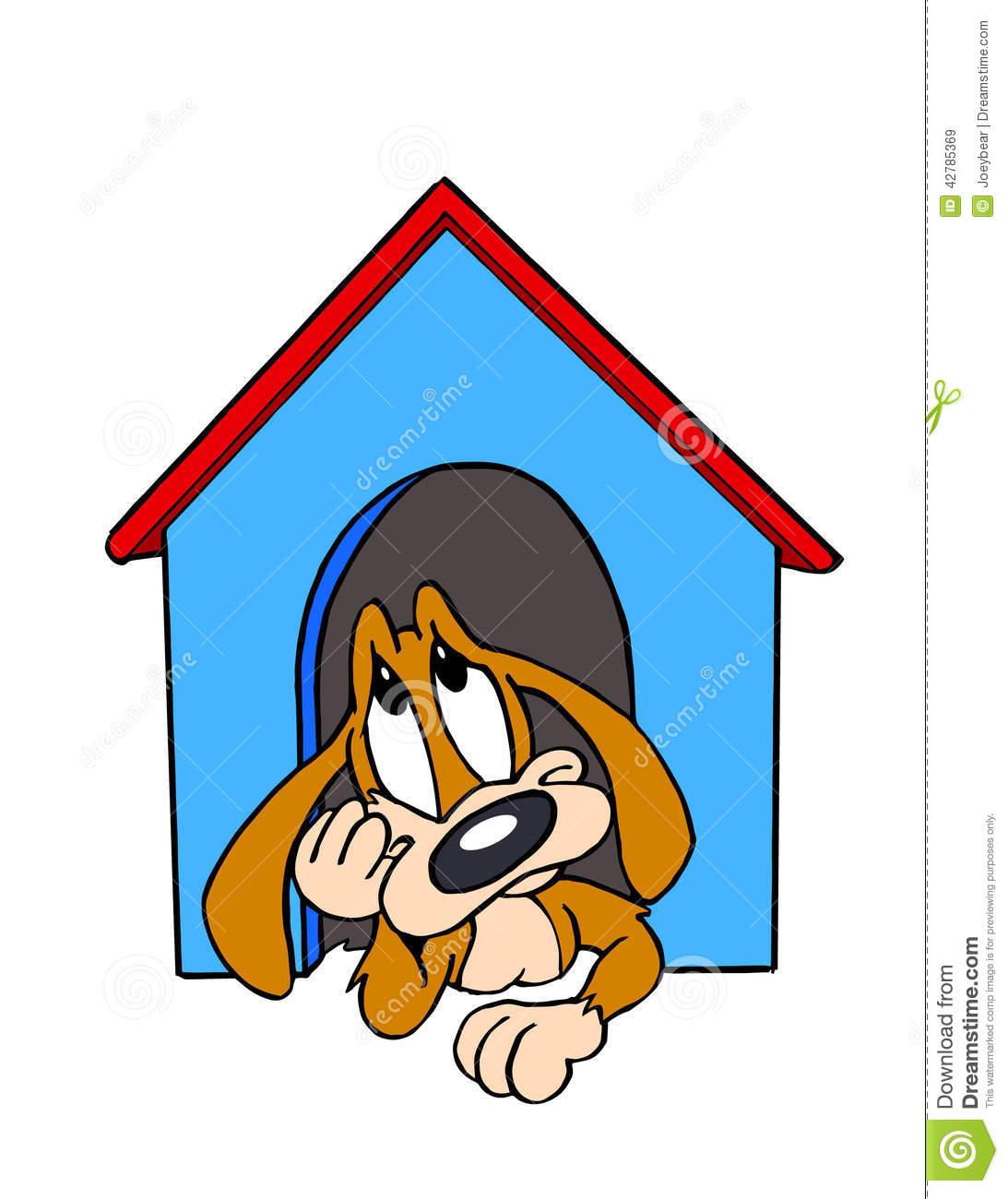 dog in doghouse clipart - photo #18