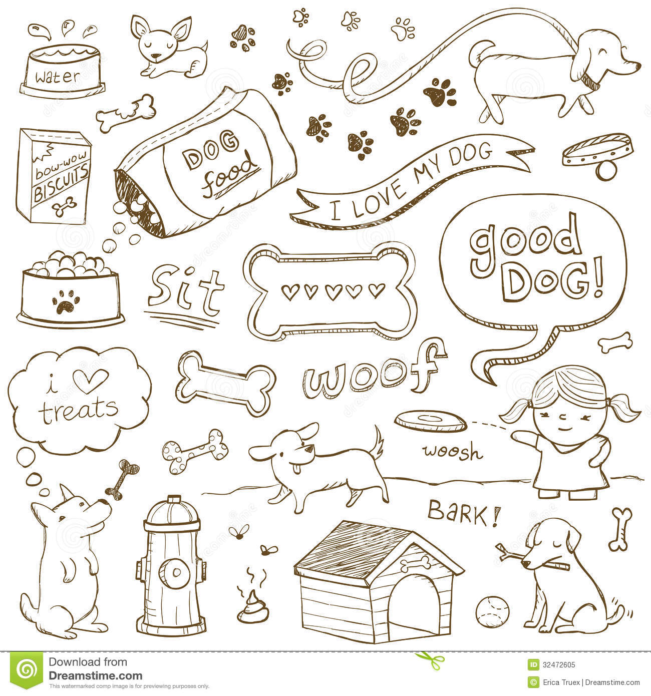 dog doodles cartoon vector cartoondealer com 32472605 Frisbee Clip Art Black and White frisbee clip art free