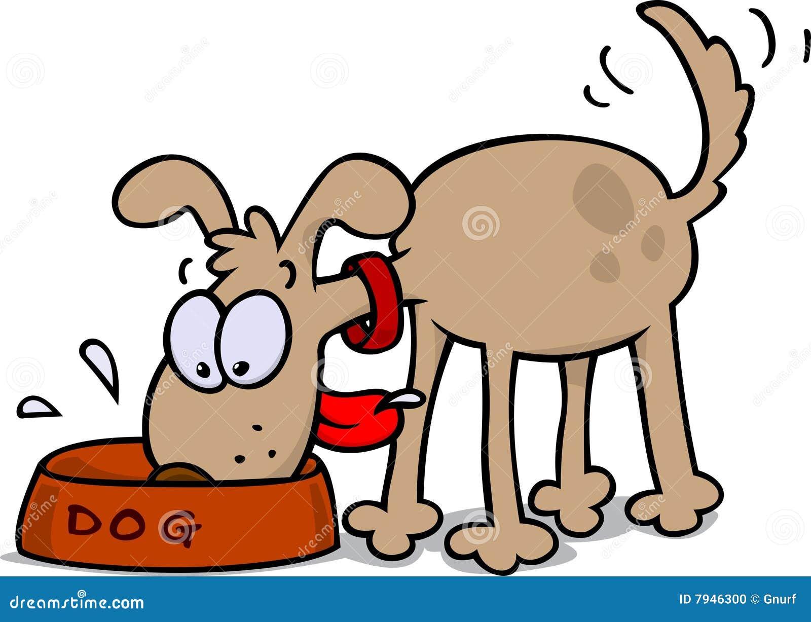 Dog Eating Food Cartoon