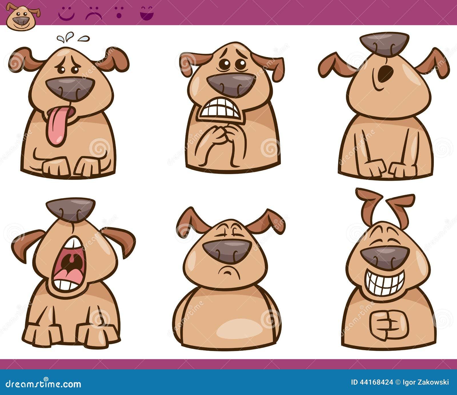 Cartoon emotions illustration vector