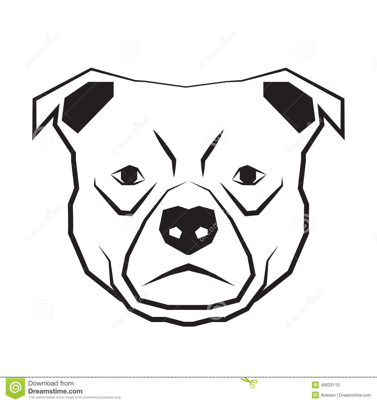 Dog Face Black And White Drawing Contour Stock Vector - Image ... Veterinary Tools Clip Art