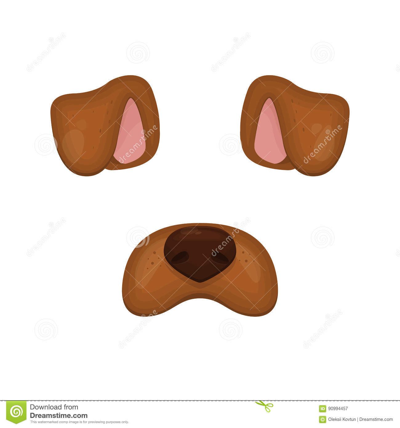 Dog Face Elements. Vector Illustration. Animal Character ...