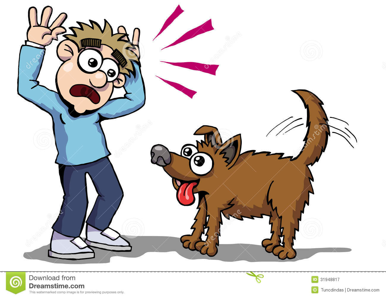 Dog Fear Royalty Free Stock Photography - Image: 31948817