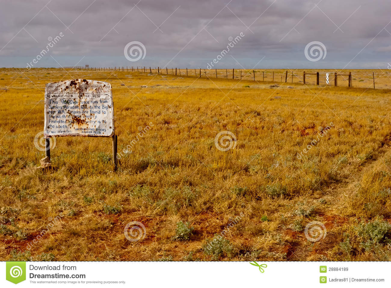 Download The Dog Fence, South Australia Stock Image - Image of fence, northern: 28884189