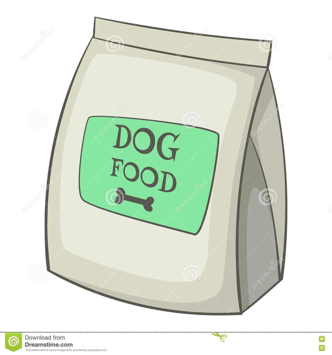 Dog Food Bag Icon, Cartoon Style Stock Vector - Image ...