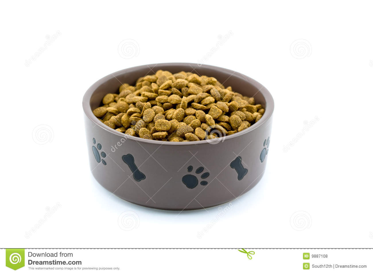 Dog Food Bowl Royalty Free Stock Photos - Image: 9887108