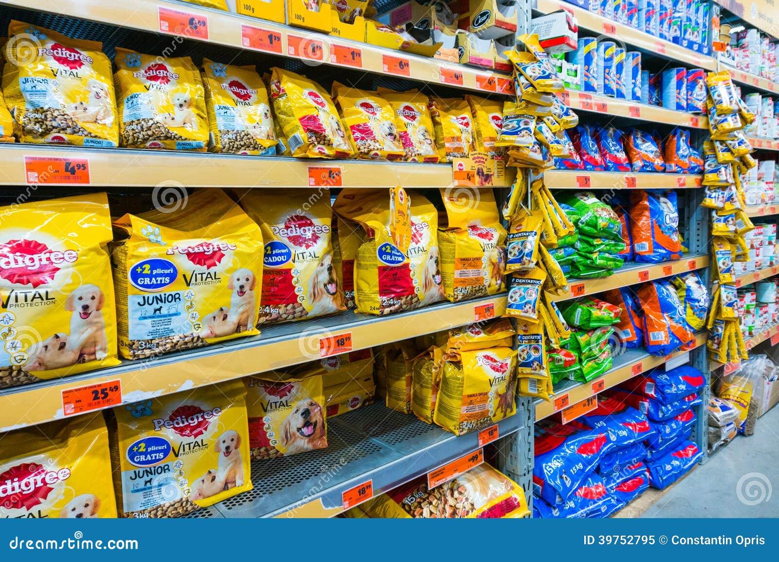 dog food shelves editorial image image of feeding. Black Bedroom Furniture Sets. Home Design Ideas