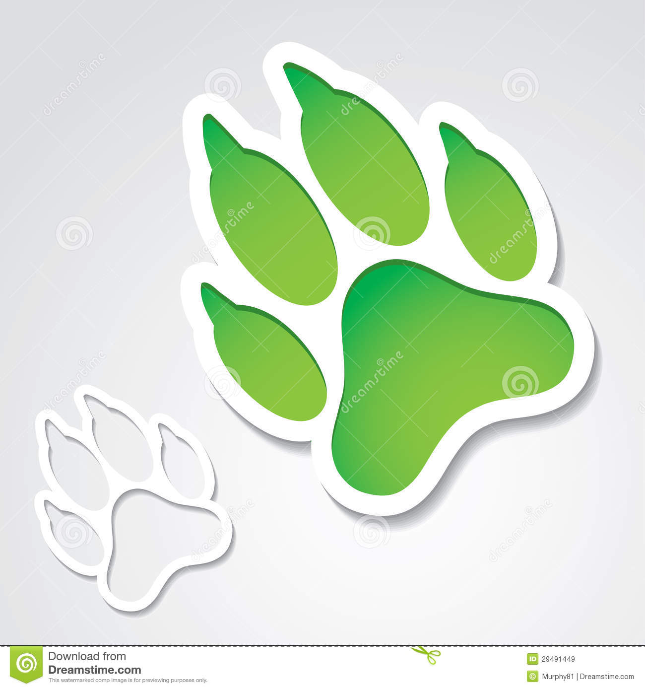 Dog Footprint Sticker Royalty Free Stock Images - Image: 29491449
