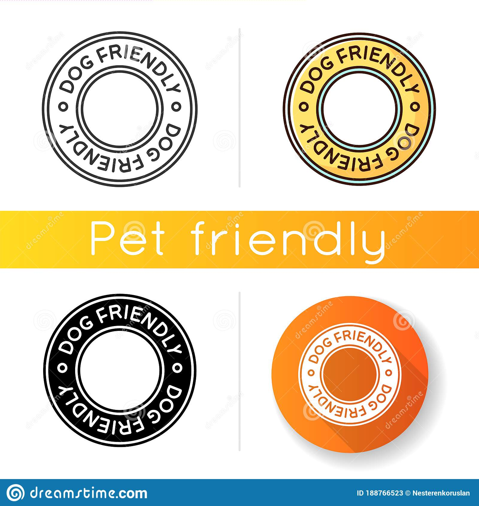 Dog Friendly Area Icon. Doggy Permitted, Domestic Animals ...