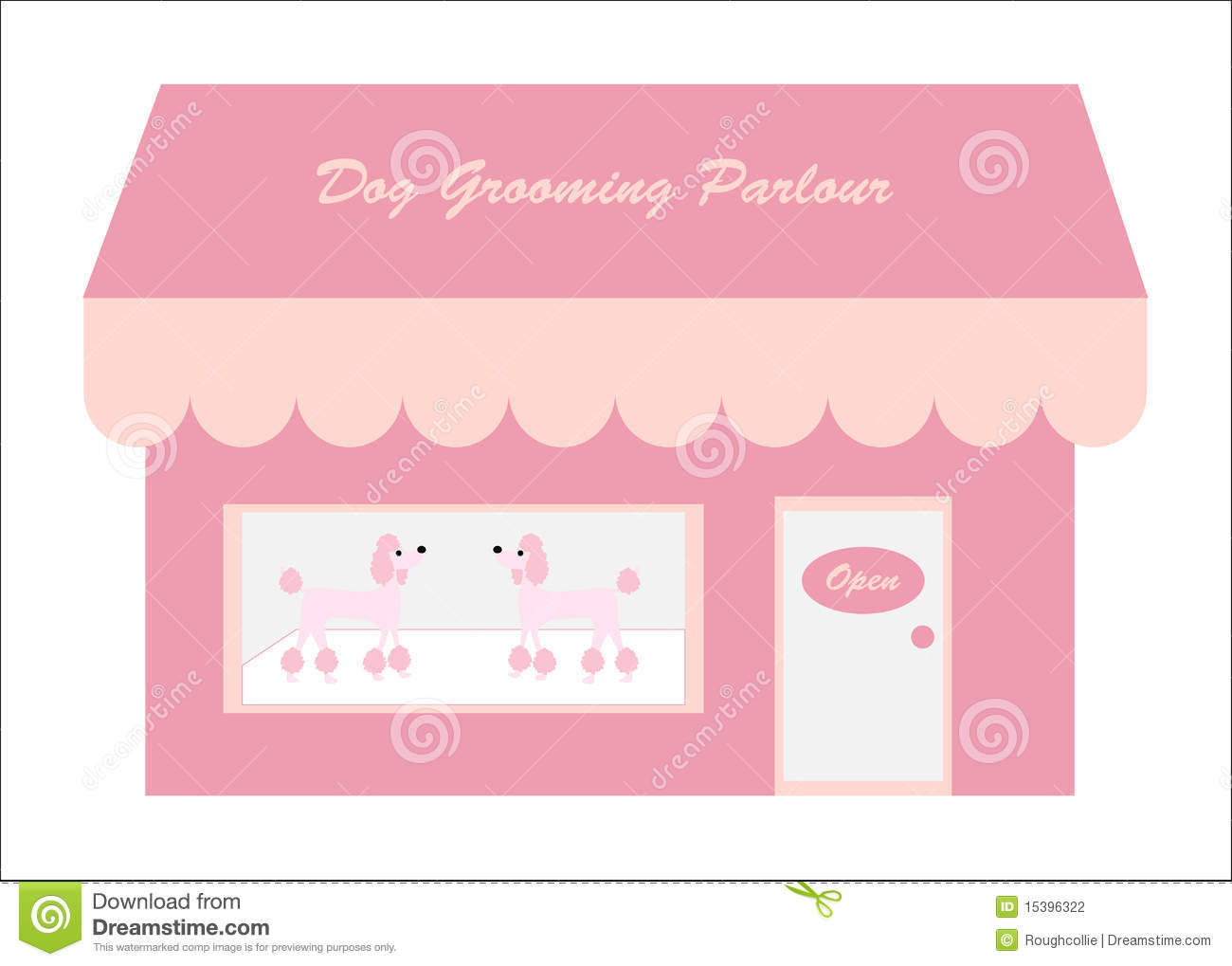 Dog Grooming Shop Parlour Stock Photography Image