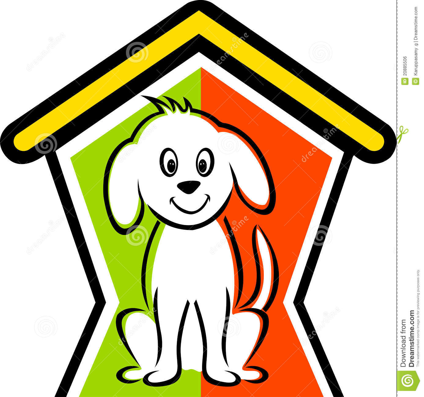 dog in doghouse clipart - photo #16