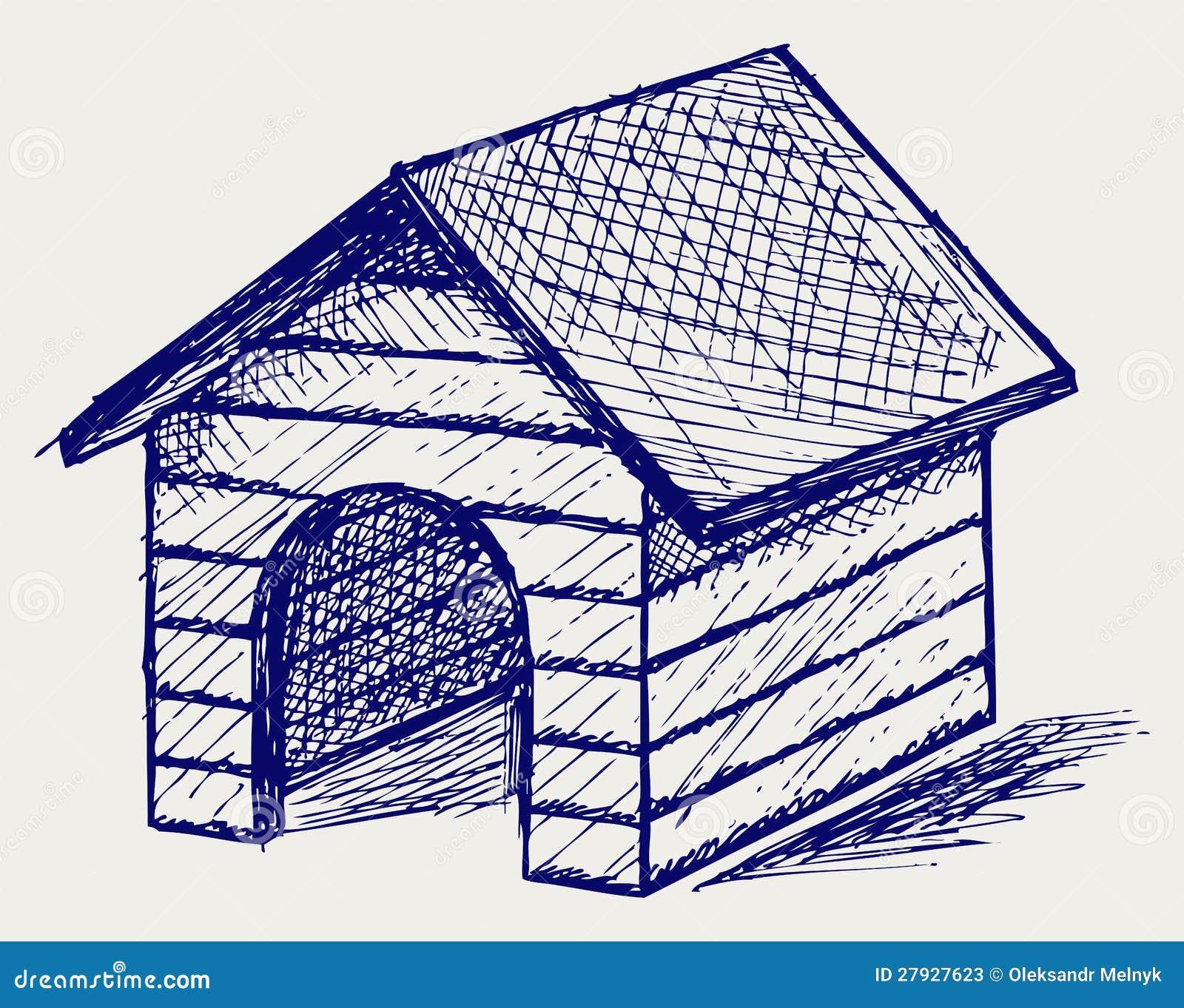 Dog House Doodle Style Stock Photos Image 27927623