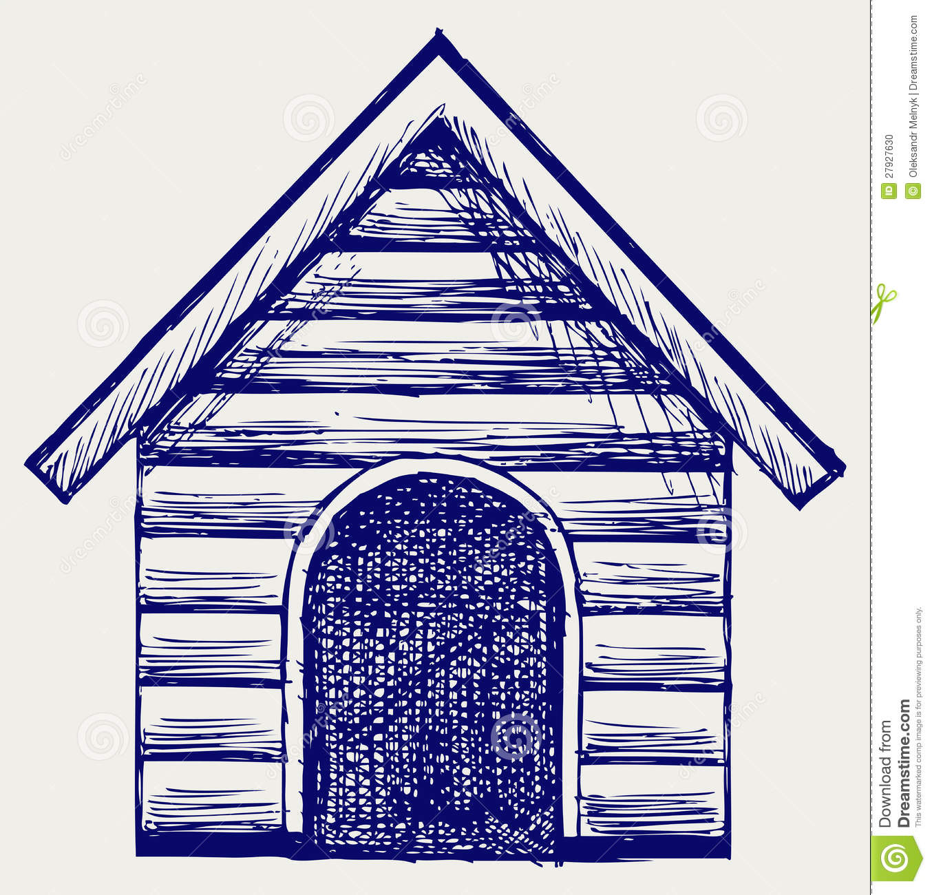 Dog House Doodle Style Stock Vector Image Of Image