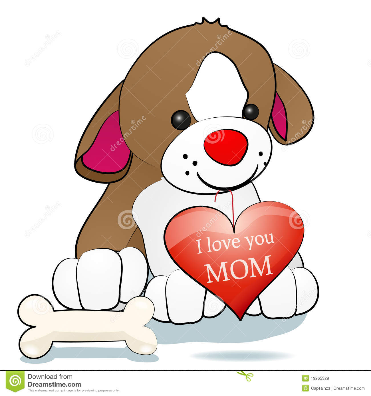 Royalty free stock photos dog and i love you mom image 19265328