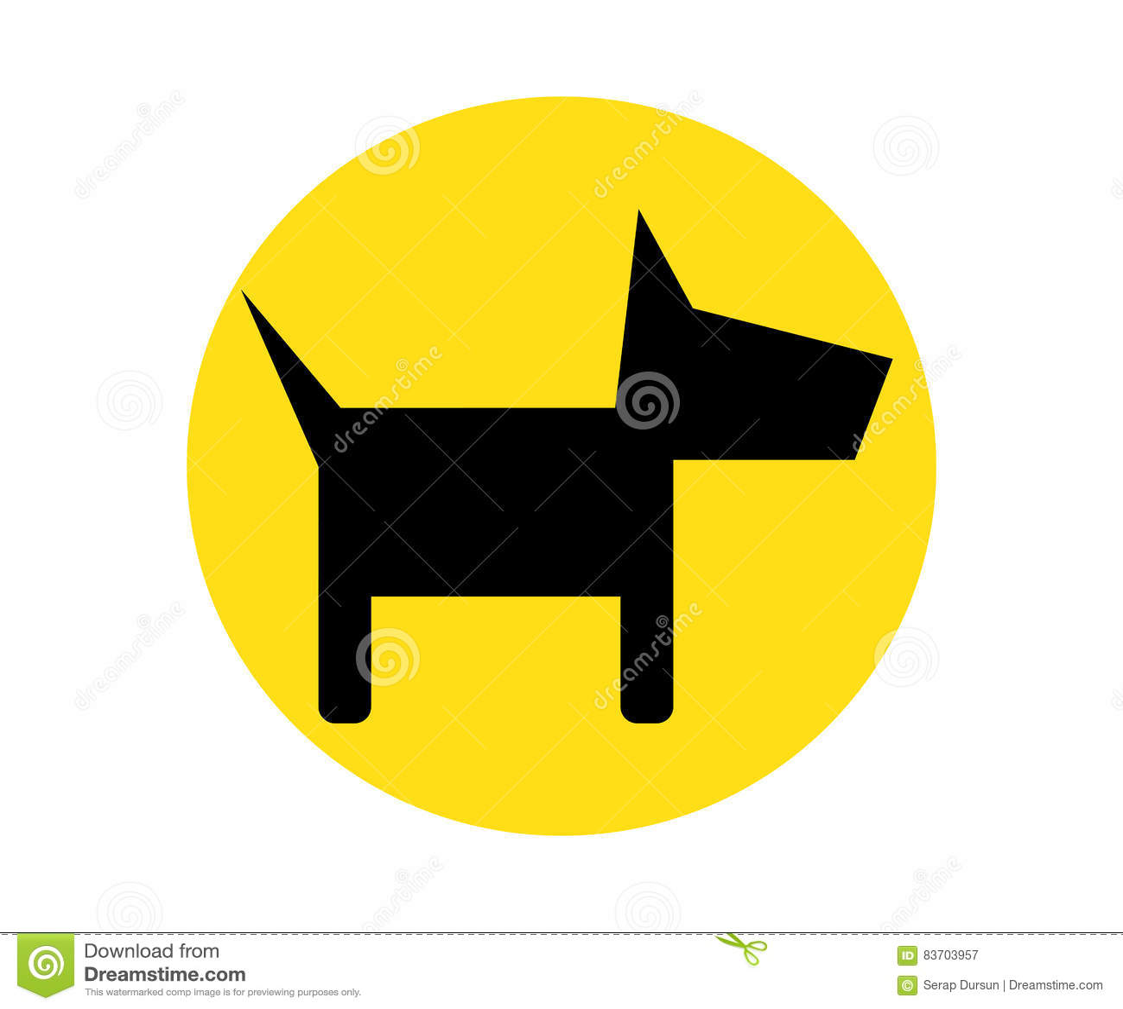 Dog Icon Design Stock Illustration
