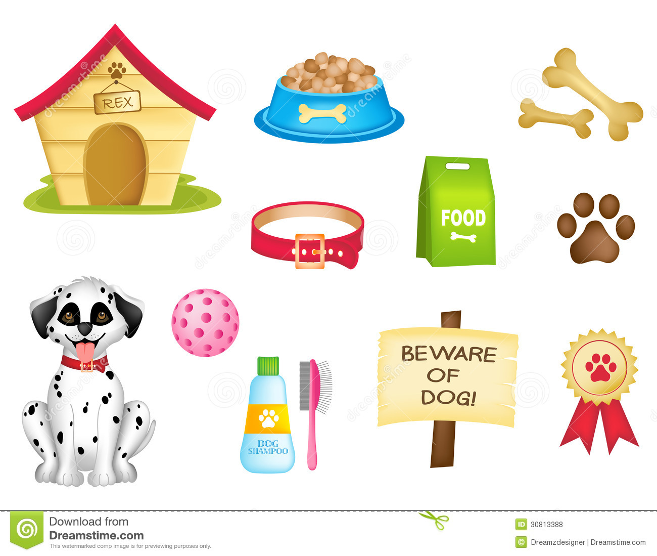 Dog Icons / Clipart Collection Royalty Free Stock Photos - Image ...