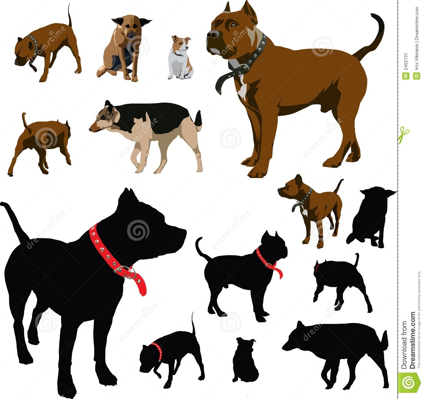 Dog Illustrations Stock Image Image 2402131