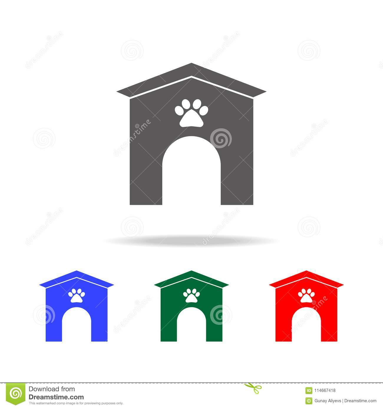 Dog Kennel Icon  Elements Of Dogs Multi Colored Icons