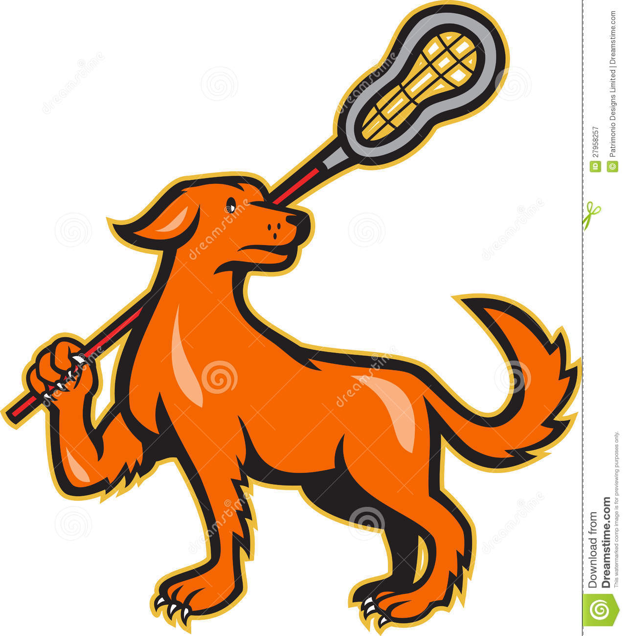dog with lacrosse stick side view stock vector illustration of rh dreamstime com Free Horse Clip Art Happy Dog Clip Art Free
