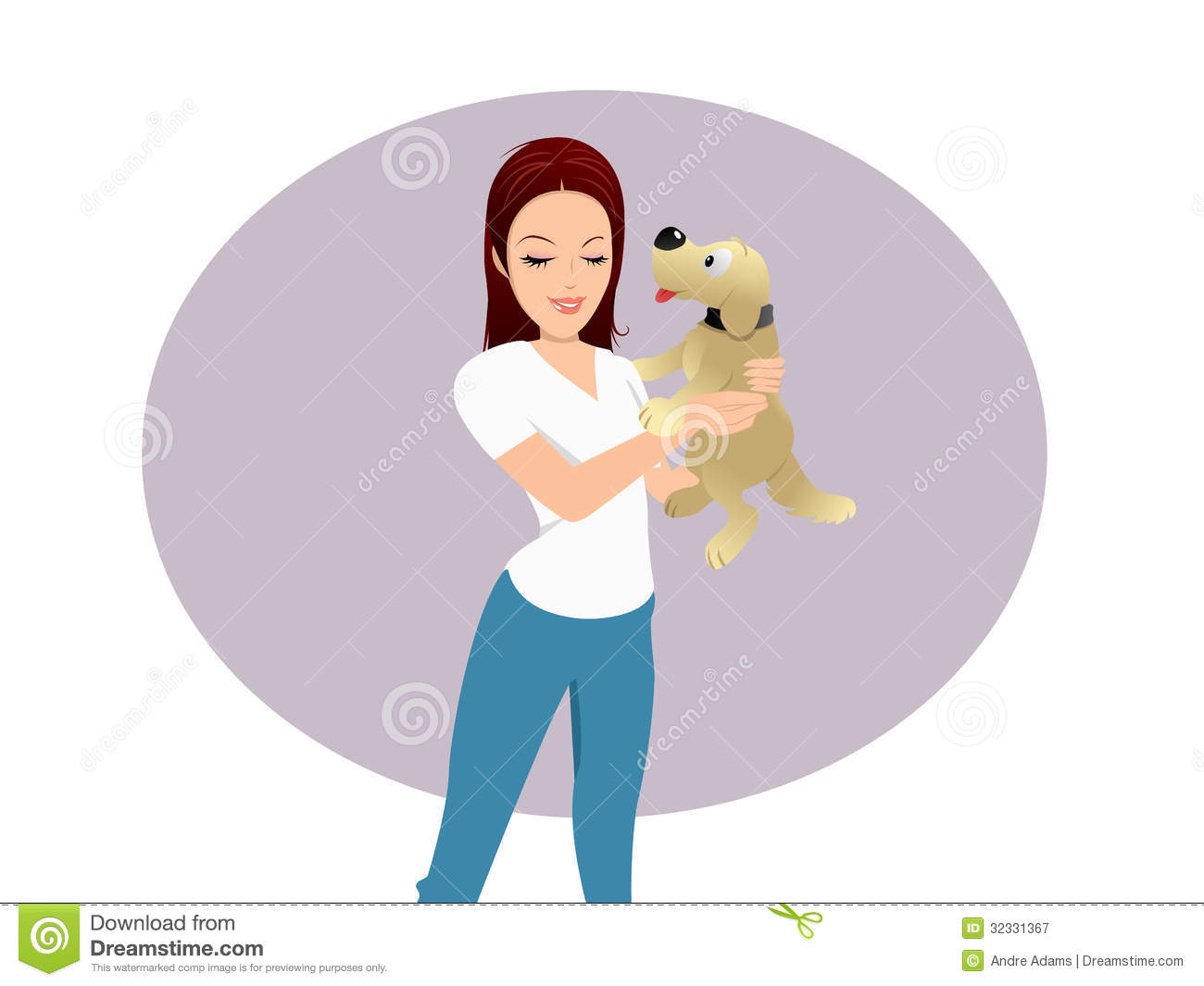 Dog Licking Owner Stock Vector Illustration Of Puppy
