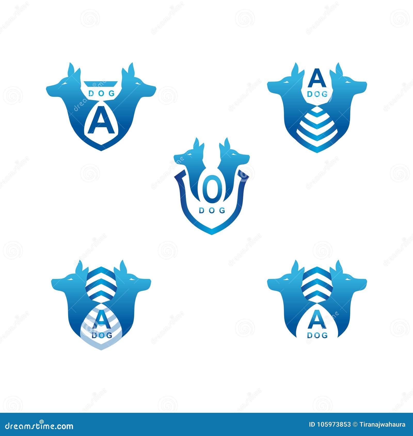 Dog Logo With Emblem Design Stock Vector Illustration Of Emblem