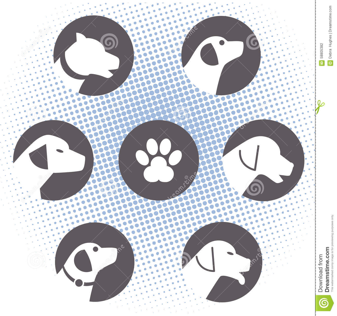 Dog Logos Stock Vector Illustration Of Element Decal 58805382