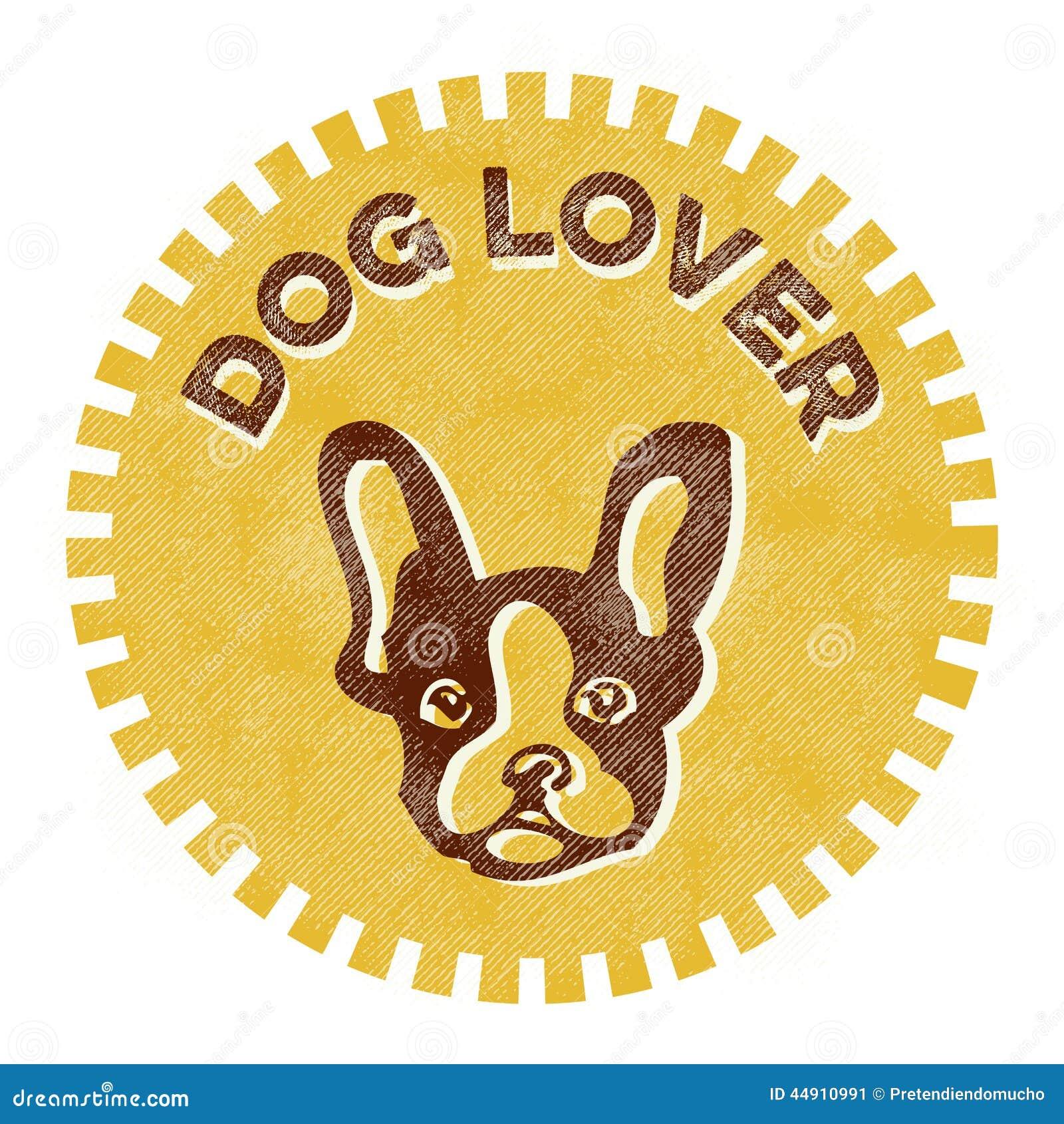 dog lover badge stock vector