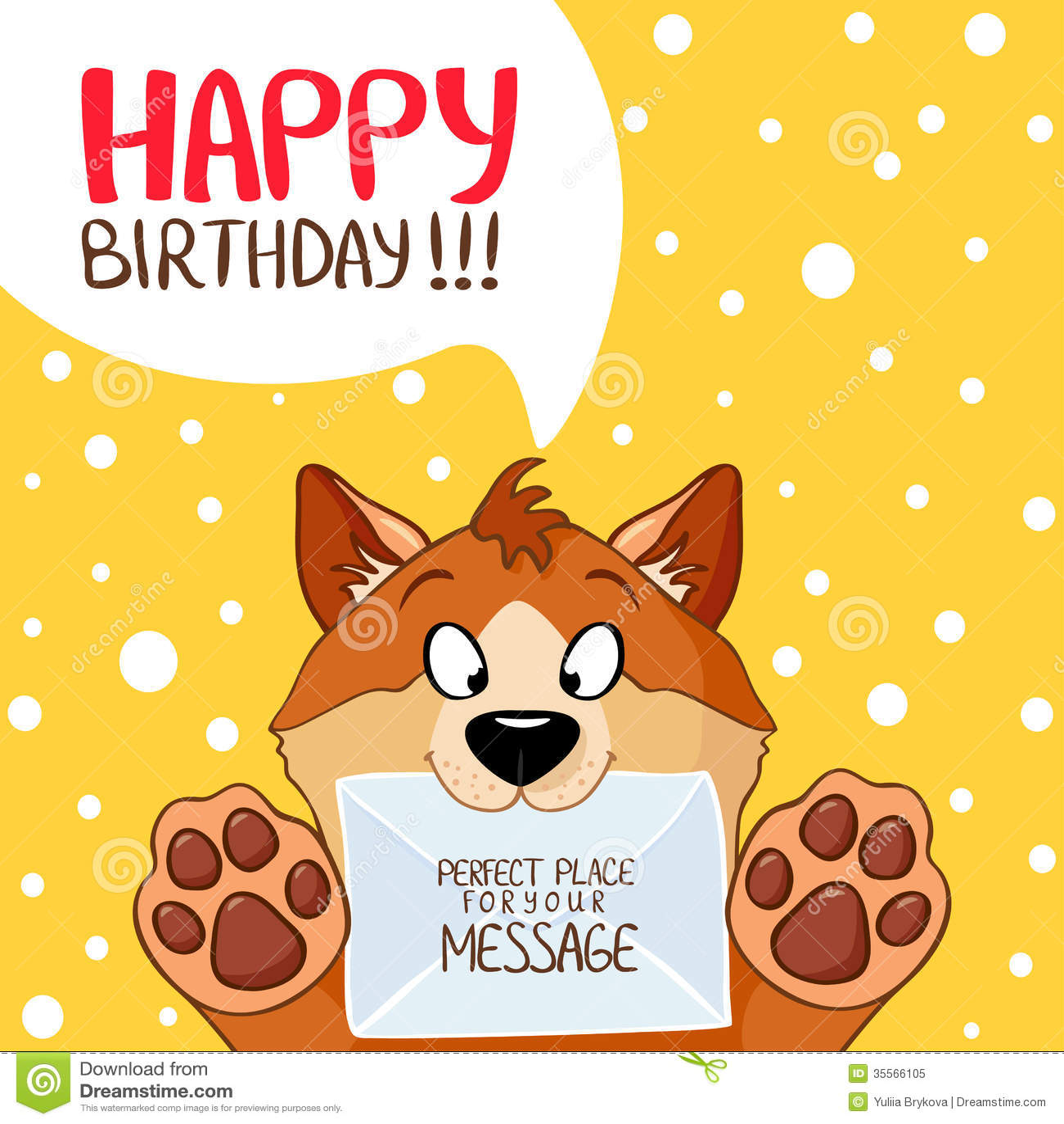 Dog Message Birthday Royalty Free Stock Photo - Image: 35566105