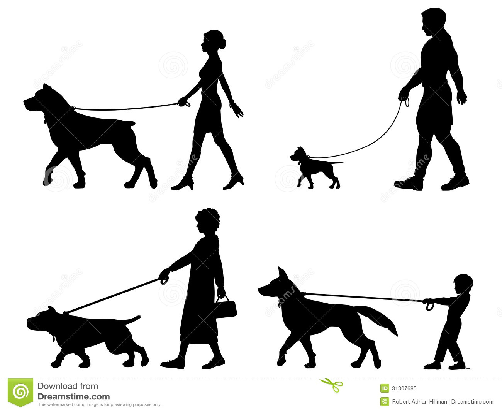 Dog Owner Variety Royalty Free Stock Photo Image 31307685