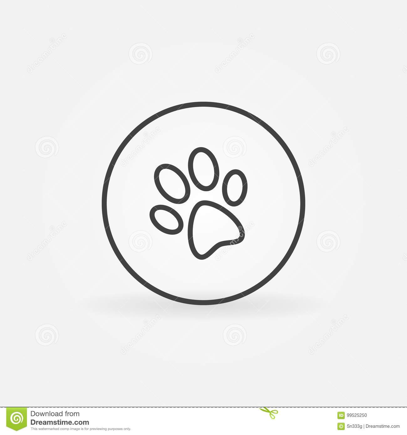 Dog paw in circle icon stock vector illustration of poster 99525250 dog paw in circle icon biocorpaavc