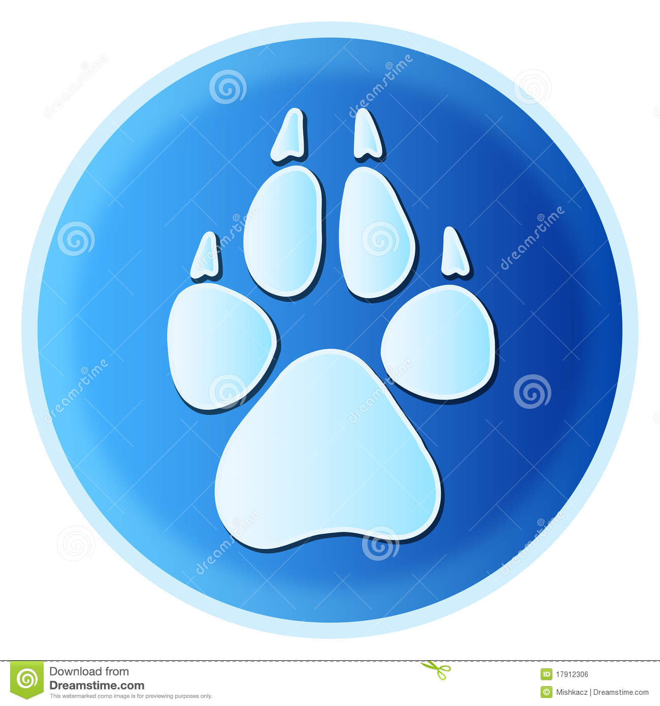 Dog Paw Print Stock Vector Illustration Of Composition
