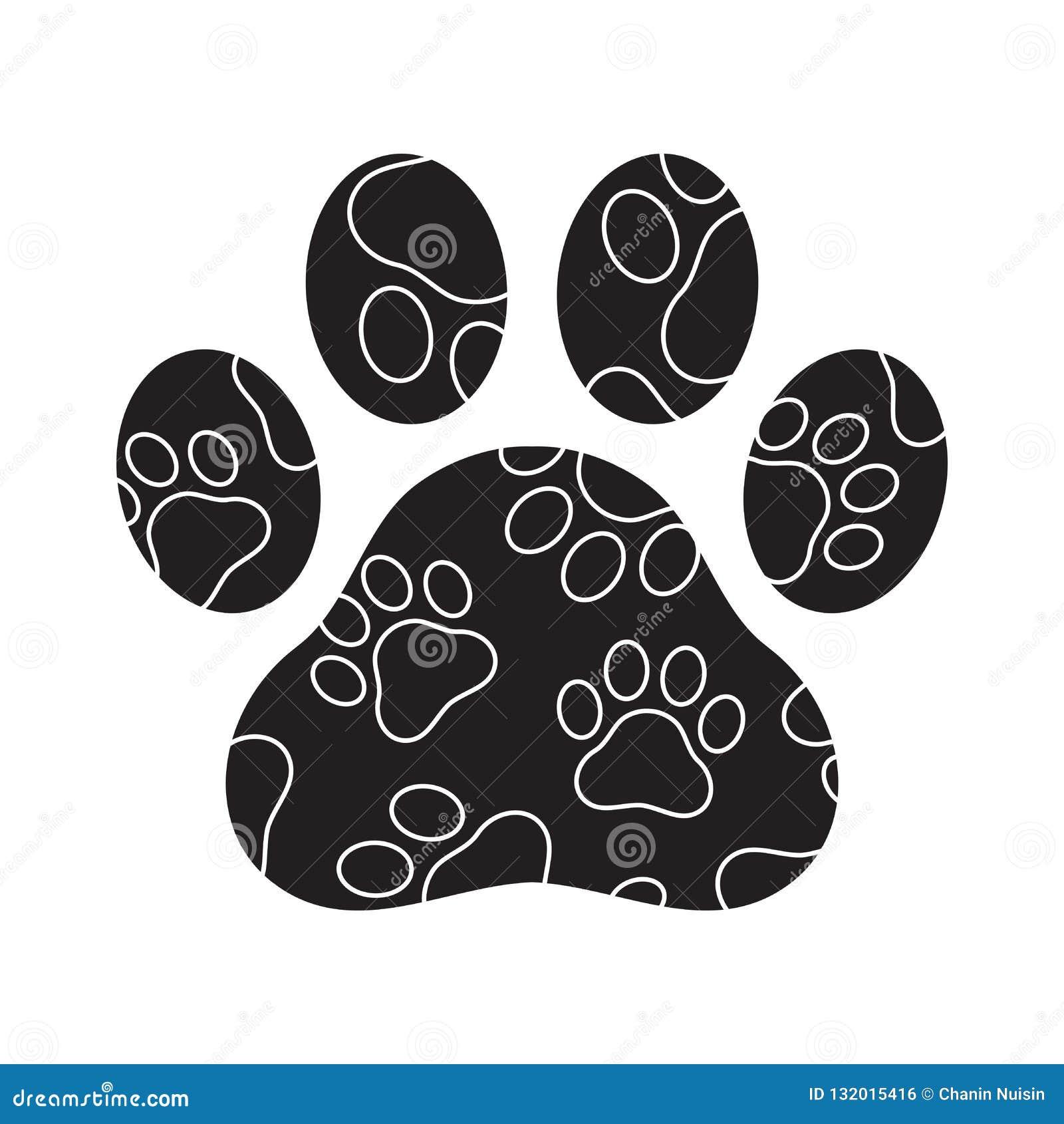 Dog paw vector footprint logo icon camouflage graphic symbol illustration french bulldog bear cat cartoon