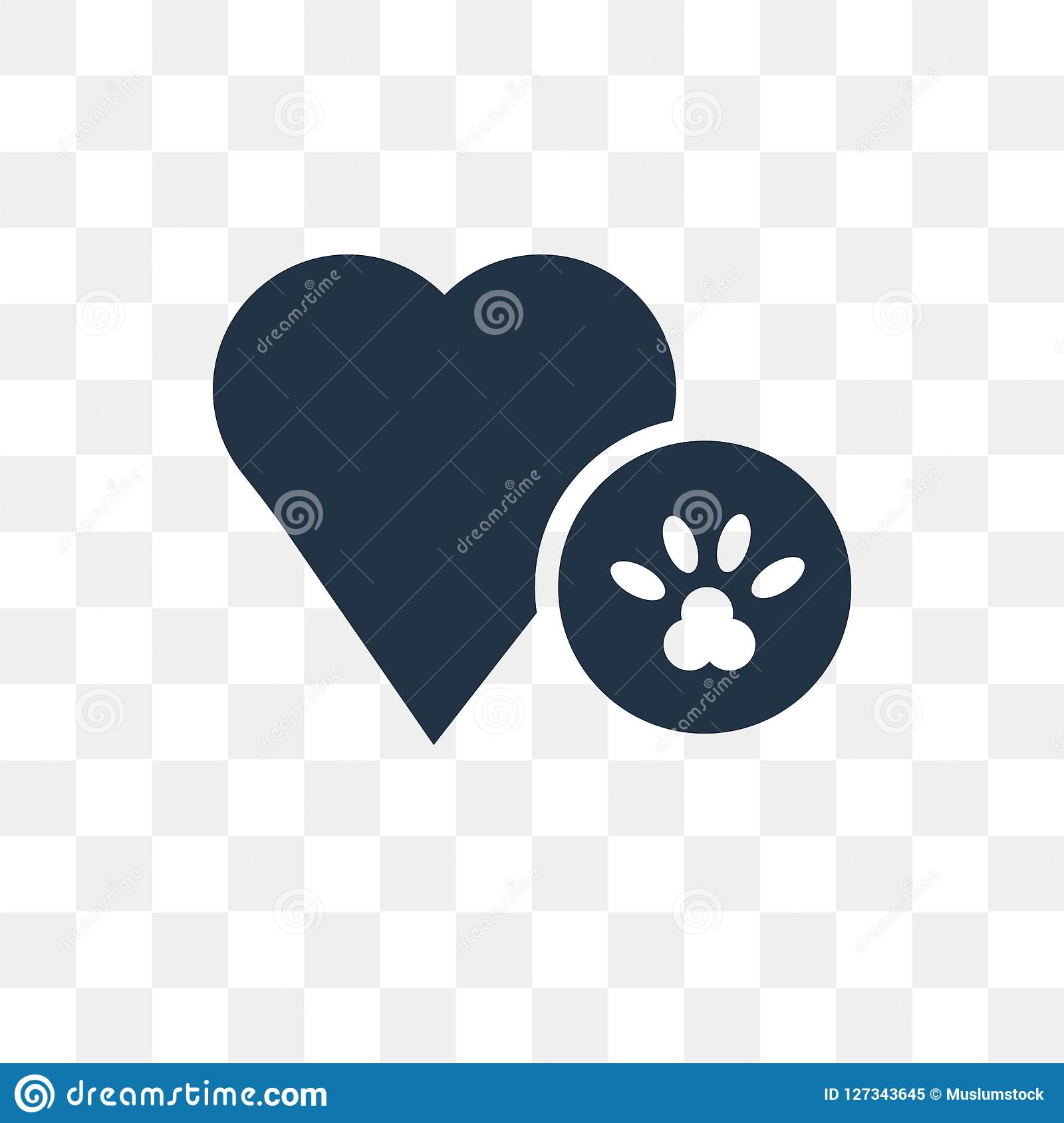 Dog Pawprint Vector Icon Isolated On Transparent Background, Dog