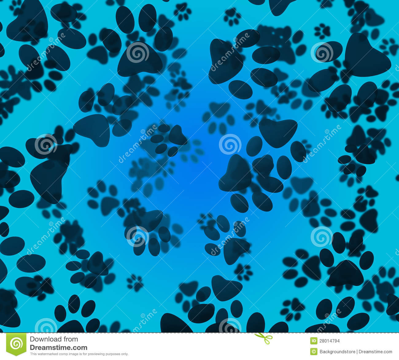 Dog Paws Blue Background Stock Images - Image: 28014794