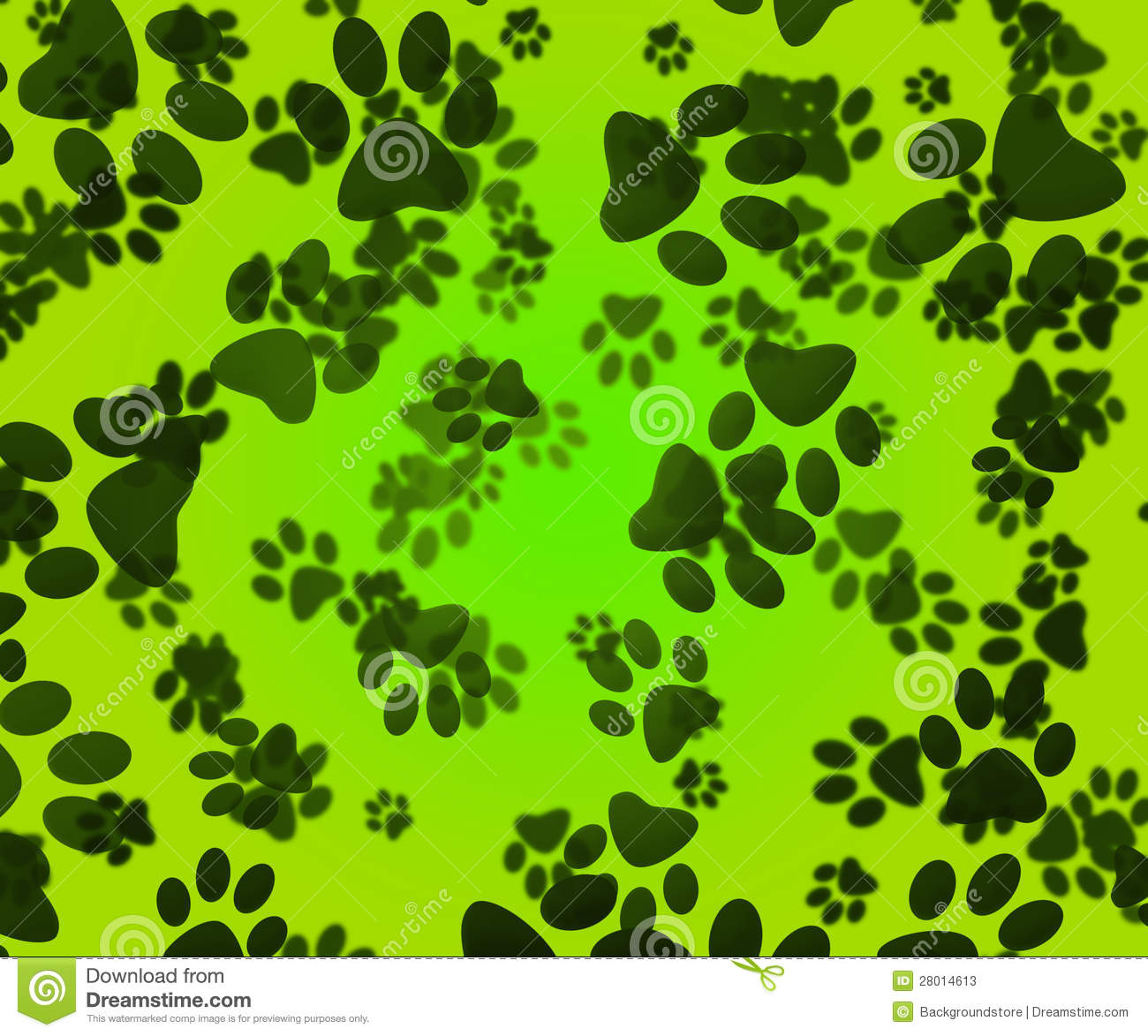 Dog Paws Green Background Stock Photos Image 28014613