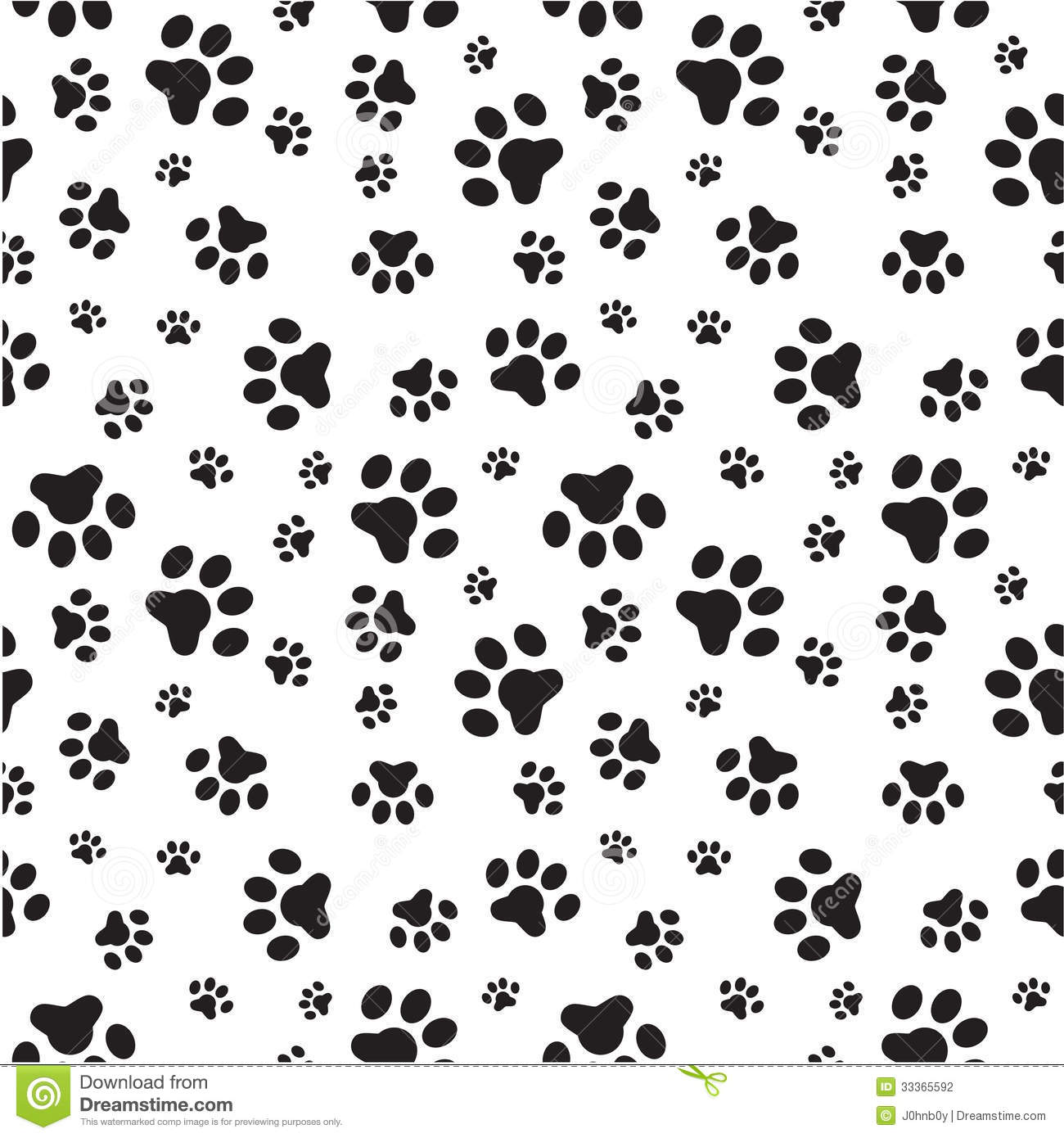 Dog Paws Seamless Pattern Stock Vector. Image Of Puppy