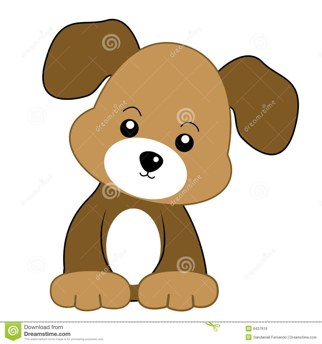 dog puppy stock vector illustration of deadly coloured 8437919 rh dreamstime com puppy dog eyes clipart puppy dog face clipart