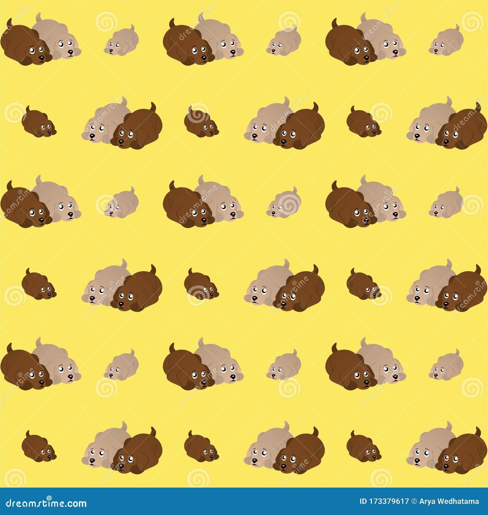 Dog Or Puppy Cute Illustration Cartoon Funny Character Pattern Wallpaper Stock Illustration Illustration Of Design Pets 173379617