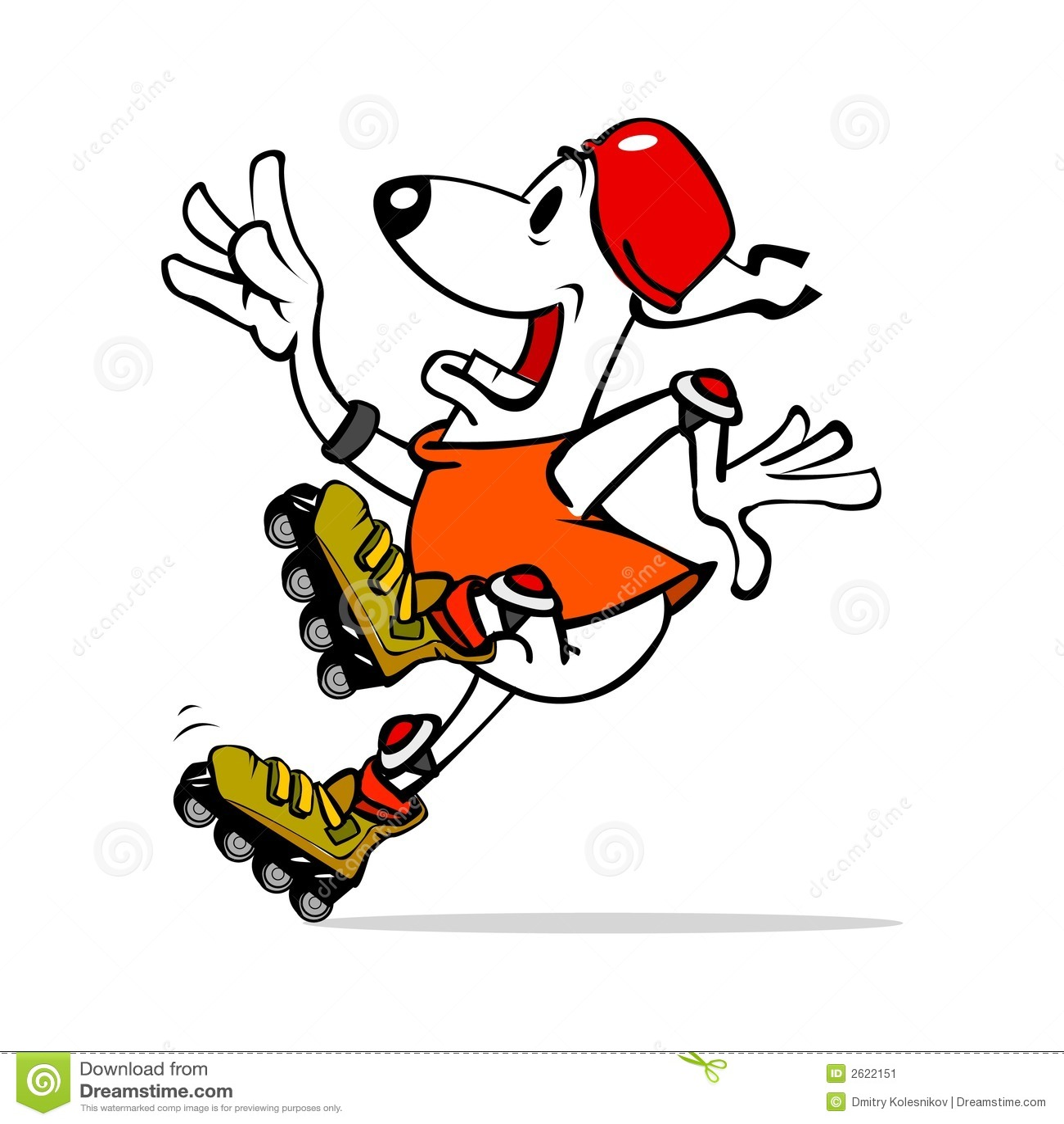 Roller skates for dogs - Dog On Roller Skates