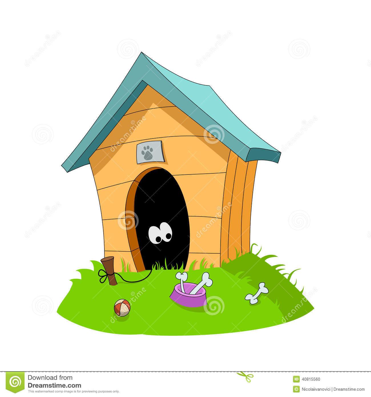 Dogs House Stock Vector Image 40815560
