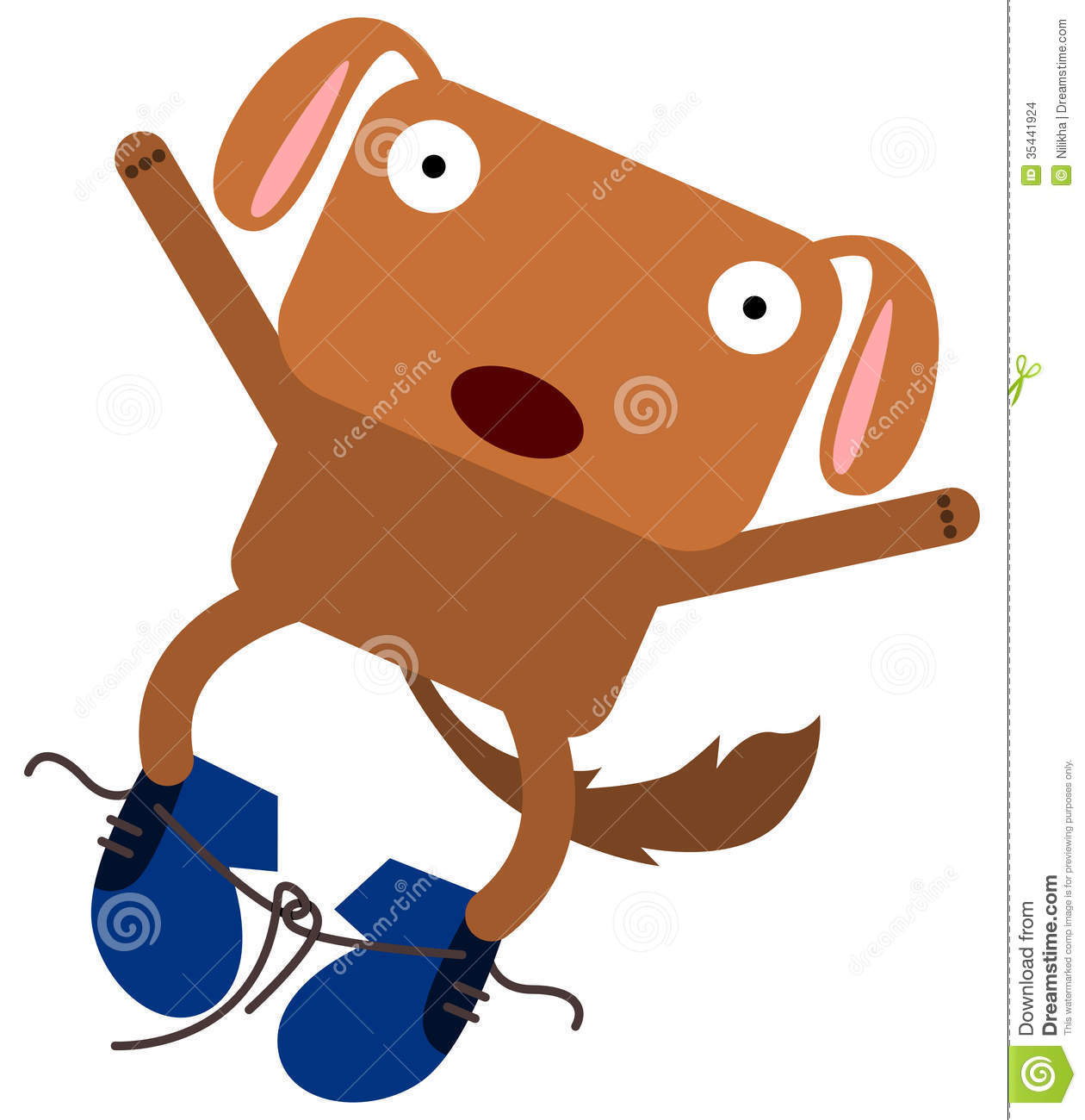 Stock Images Dog S Shoe Tripping Untied Image35441924 on cartoon people tripping