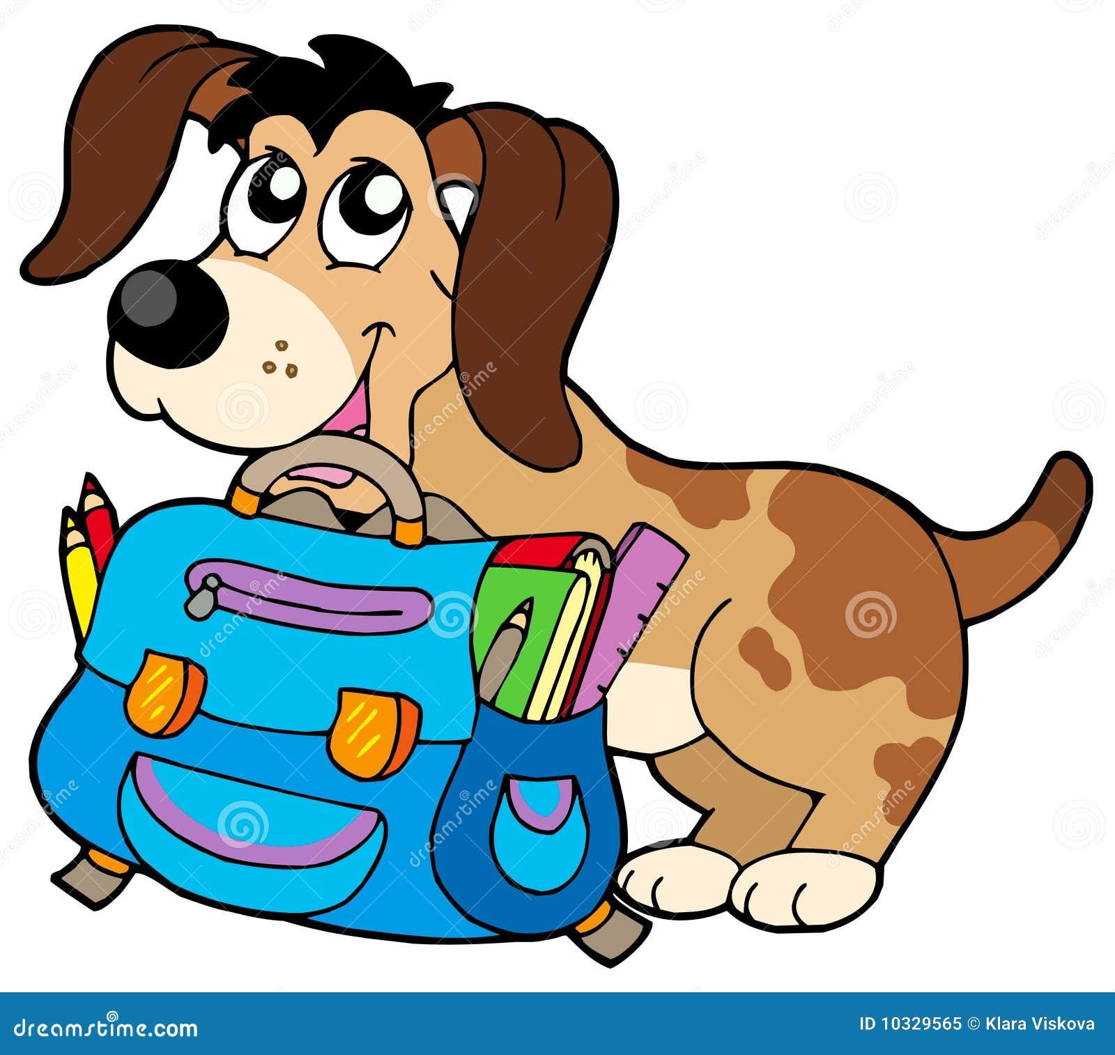 3D School Bag Dog Waldi